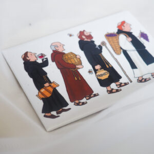 Alison Gardiner Monks Fridge Magnet