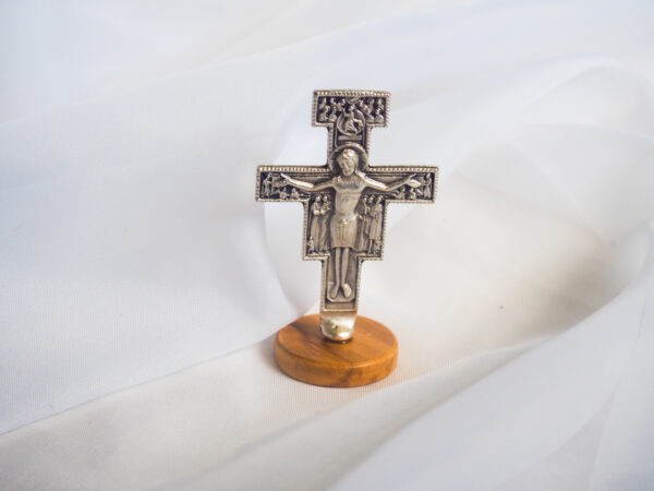 Crucifix on wooden base