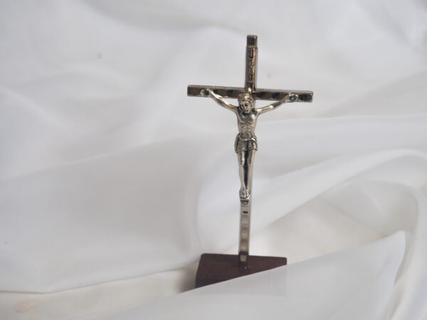 Crucifix on wooden base