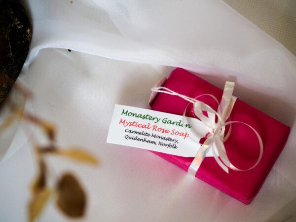 Quidenham wrapped soap bar