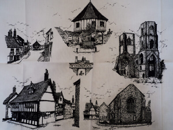 Views of Wymondham tea towel