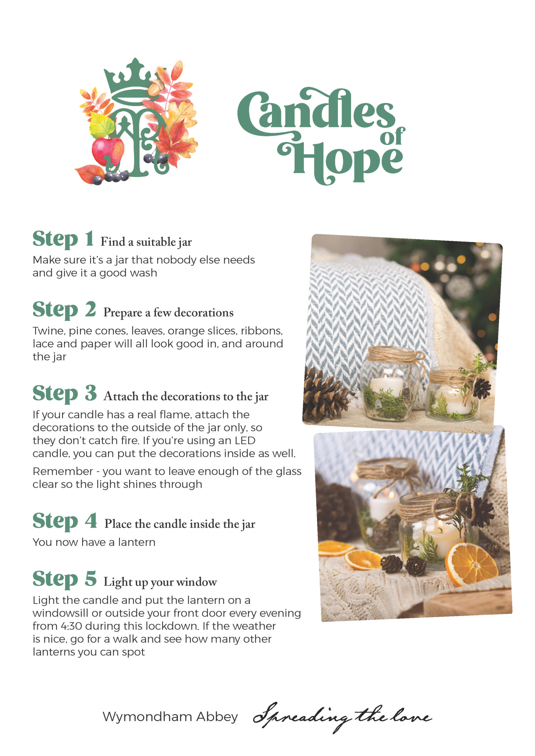 Candles of Hope Instructions